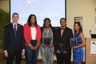 2016 Winners Aleshia Johnson, Rachel Jones, Albert Morgan, Edymar Colon