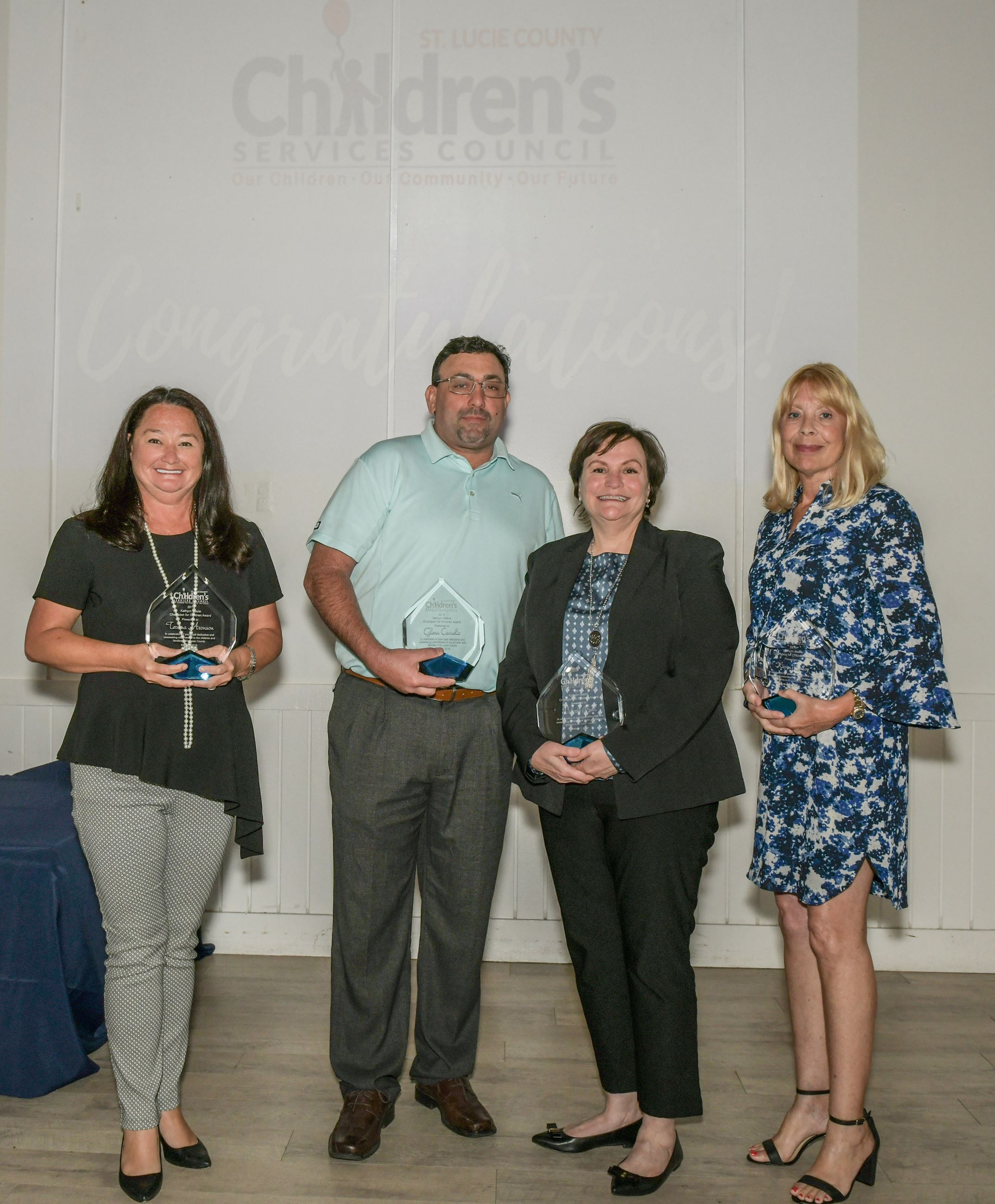 Kathy Basile Champions for Children Terissa Aronson, Glenn Camelio, Valerie Bell and Karen Bailey